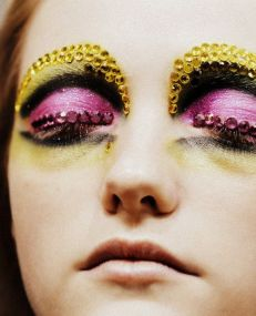All hail Pat McGrath - Dior SS 2008 make up - myheartisnuclearr.tumblr.com