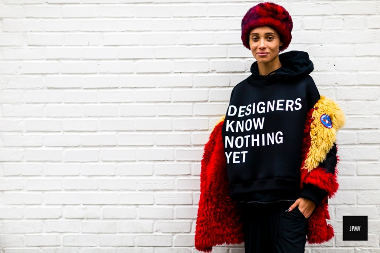 Adwoa Aboah - Street style fashion-photography by Nabile Quenum © jaiperdumaveste - New-York Fashion Week-FW 2016 - jaiperdumaveste.com