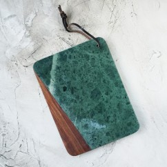 Green Marble and Wood Cutting Board - curiousegg.com