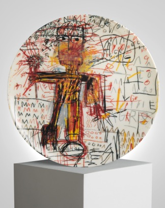 Jean-Michel Basquiat x Ligne Blanche Paris Porcelain Plates - ligneblancheparis.com