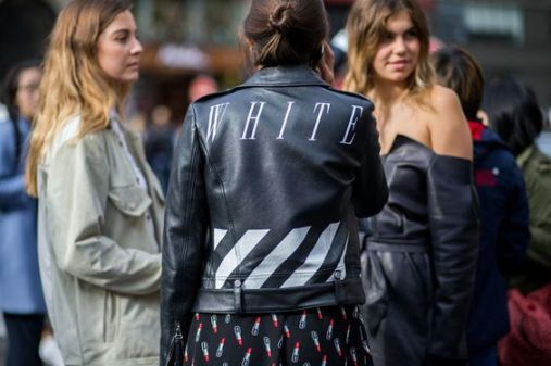 Off white jacket & Saint-Laurent dress - street style - whowhatwear.co.uk