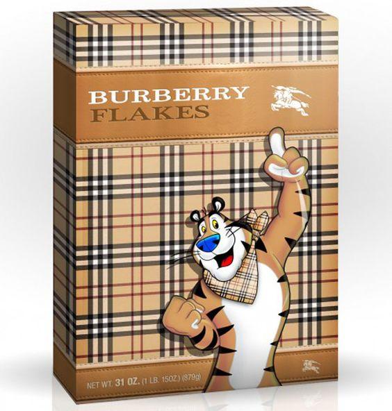 Burberry Flakes - by Tricia Clark STONE - w3sh.com
