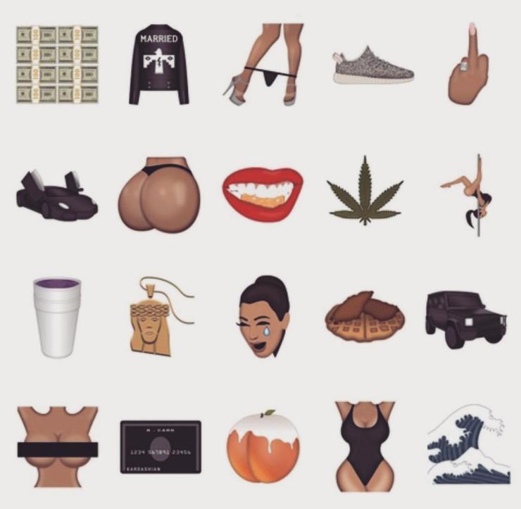 Kimoji - Kim Kardashian - Instagram @kimkardashian