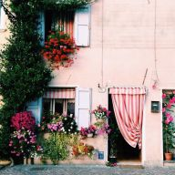 Italy - Pink wall - youreprettybitch.tumblr.com