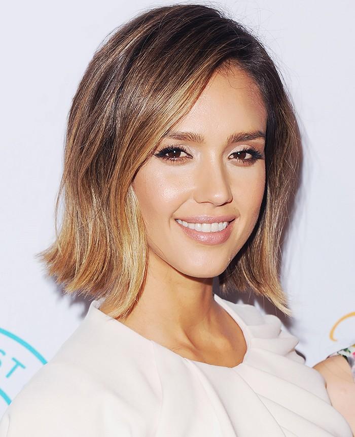 Jessica Alba - Hair contouring - healthygirlslove.com