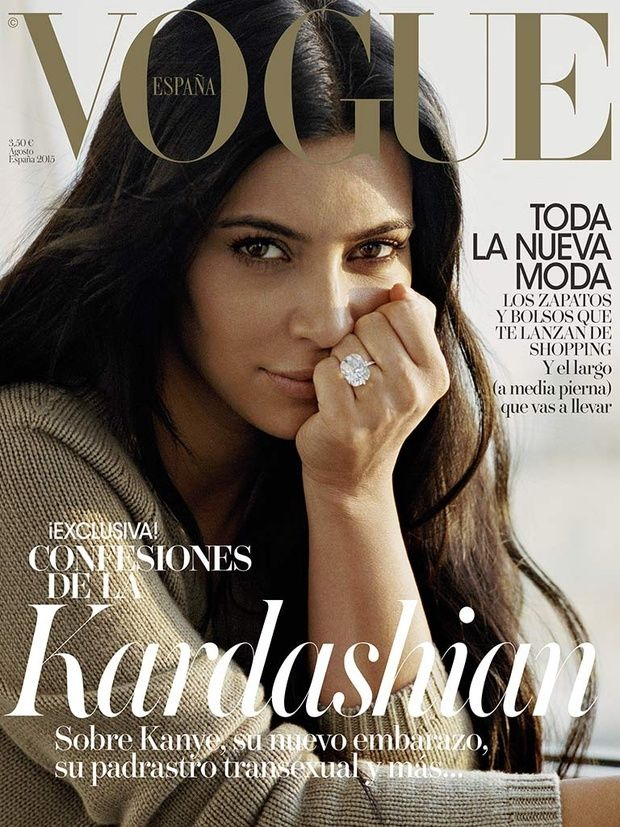 Kim Kardashian by photographer Theo Wenner for Vogue Spain August 2015 - fashionbombdaily.com