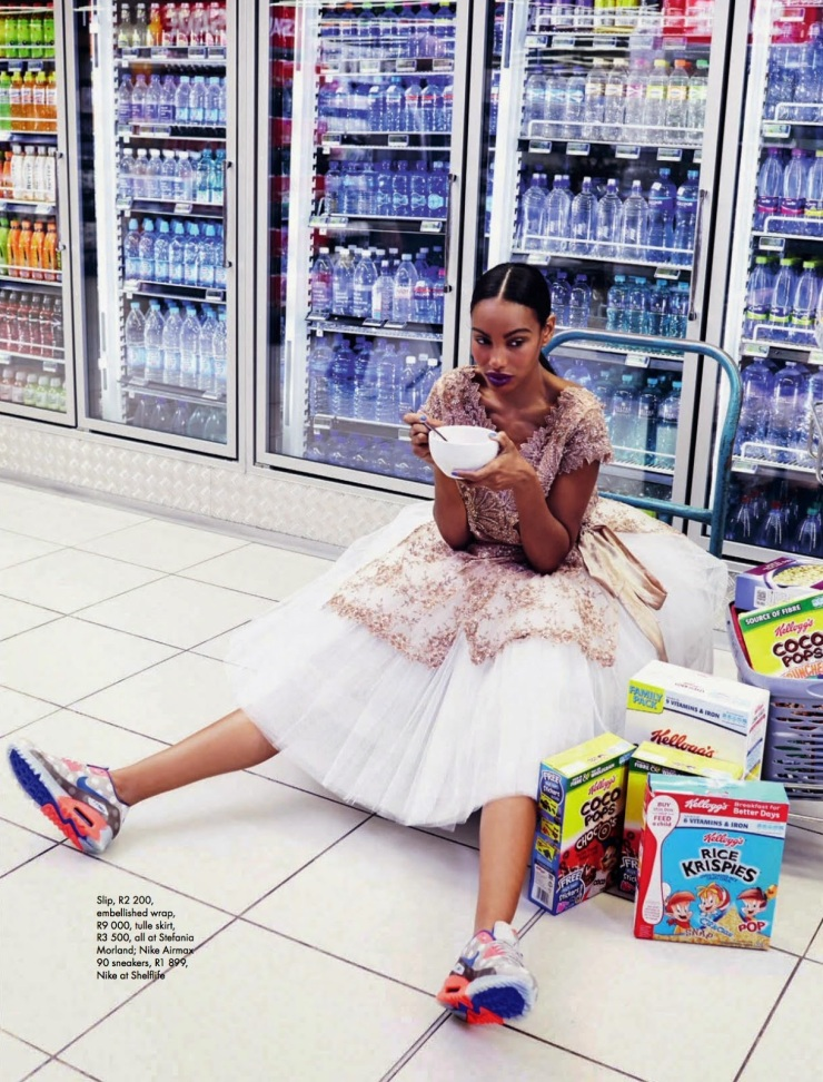Fresh Produce : Dominique and Adau Mornyang by Damon Fourie for Elle South Africa July 2014 - visualoptimism.blogspot.fr
