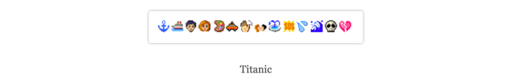 Tumblr Narratives in Emoji - Titanic - narrativesinemoji.tumblr.com