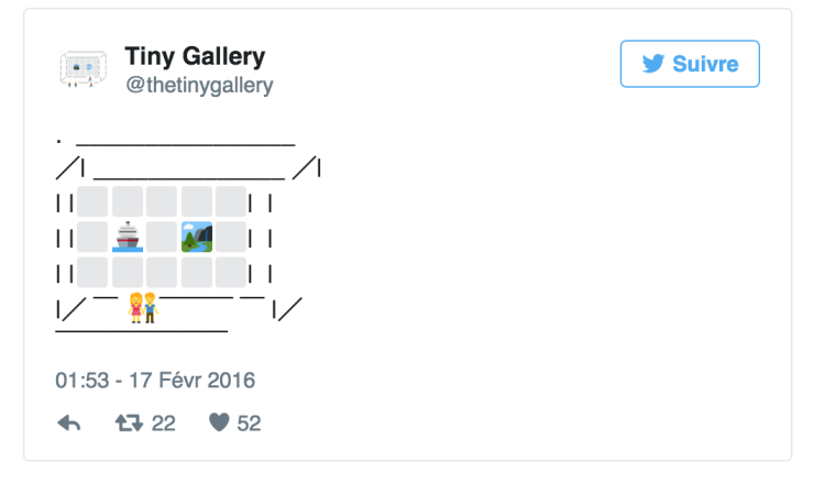 Twitter Tiny Gallery - @thetinygallery