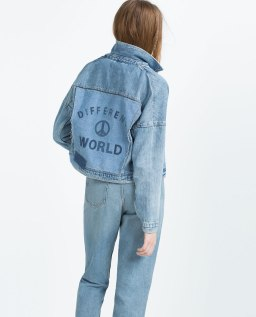 "Zara blouson en jean collection ""I am denim"" - zara.com"