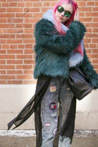 New York Fashion Week street style. [Photo by Ryan Kibler] - wwd.com