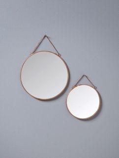 Miroir en métal par lot de 2 - cyrillus.fr