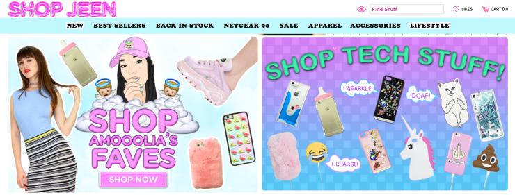 Shop Jeen - capture site officiel - shopjeen.com