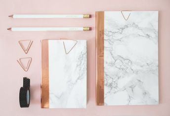 DIY marble and copper stationery 21 - cestbientotnoel.com