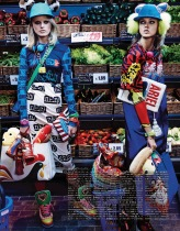 my market day: lindsey wixson and hanne gaby odiele by giampaolo sgura for vogue japan october 2014 -visualoptimism.blogspot.fr