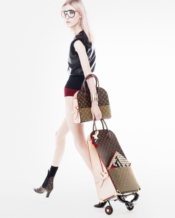 Julia Nobis - Louboutin for Louis Vuitton - Celebrating Monogram - beautydecoder.com
