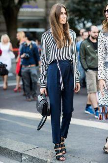Nautical Chic Street Style - Giorgia Tordini - pinterest.com