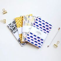 patterned notebooks | stationery design | thelovelydrawer.com