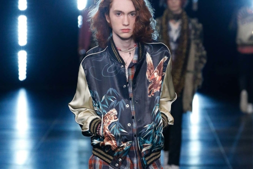 St Laurent - souvenir jacket - Saint Laurent - Spring/Summer 2016 Ready-To-Wear - vogue.co.uk