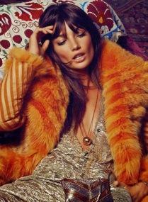 Lily Alridge - 1970s inspiration from S Moda magazine - lizzaubrey.com