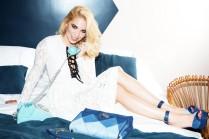 Camille Seydoux wearing Roger Vivier Prismick Denim - maryosbazaar.com