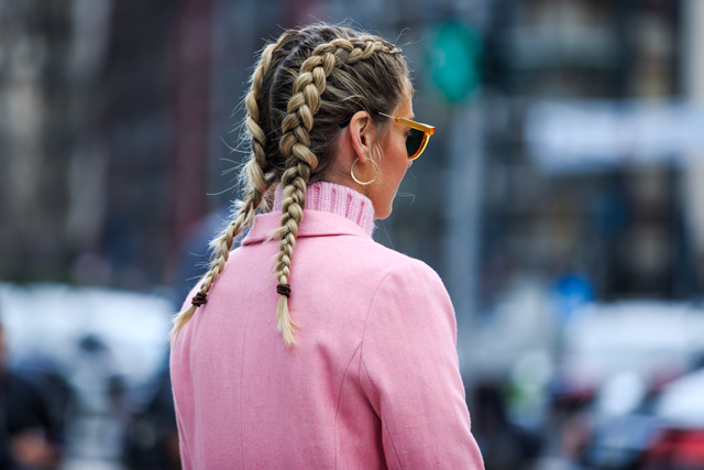 Fashion week - double tresse - © Jonathan Paciullo / Frenchy Style - glamourparis.com