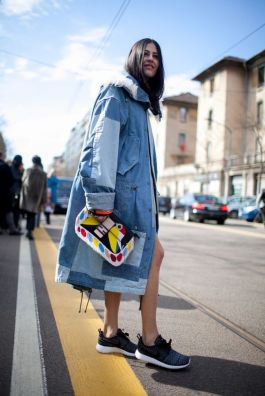 Milan Fashion Week street style. [Photo by Kuba Dabrowski] - steelemystyle.com