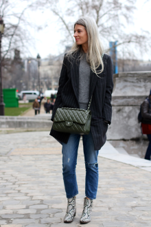 Street style inspiration - pinstripes - look by styledumonde