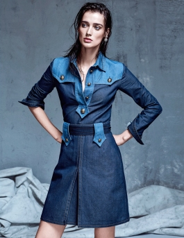 Denim Couture Marizanne Visser By Koray Parlak For Elle Turkey May 2015 - saleforyou.co.kr