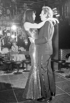 Pictured dancing with Serge Paris - 1973 - Picture : Getty - asos.com