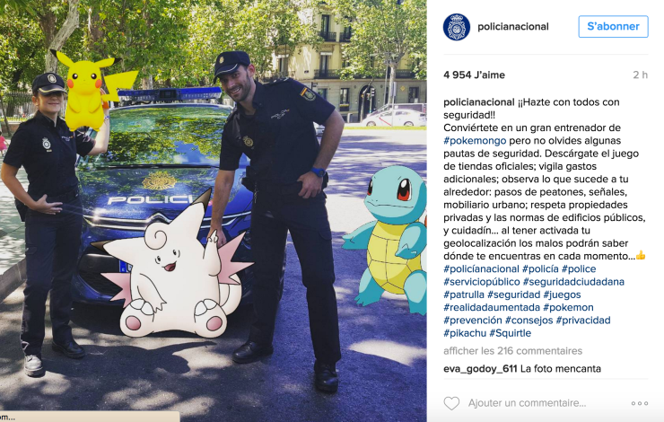 Pokemon Go on Instagram