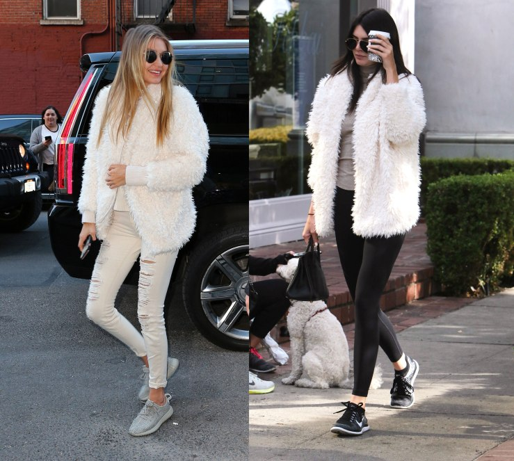 Kendall Jenner and Gigi Hadid twinning