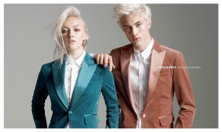 Lucky Blue & Pyper Smith for Dsquared2