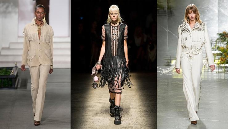 De gauche à droite : Ralph Lauren - Coach - Rodarte - Collage by Eleonore Terzian - Photo Imaxtree