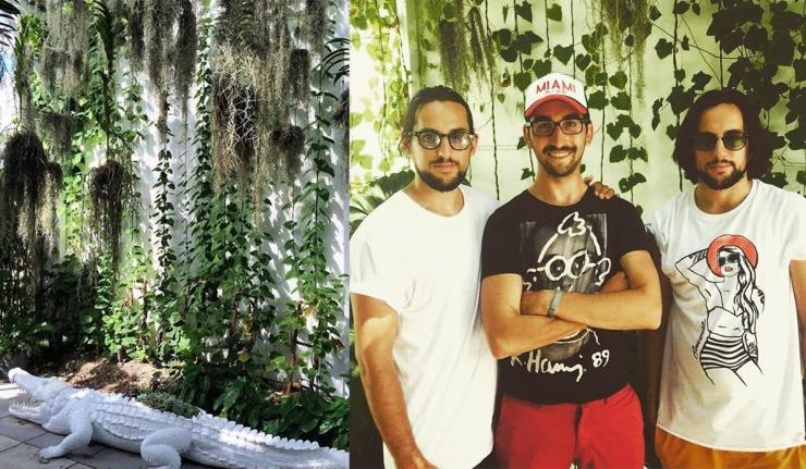 Plant The Future - De g. à droite : Thomas, Romain, Mathieu - Wynwood - Miami - Eleonore Terzian - eleonoreterzian.com