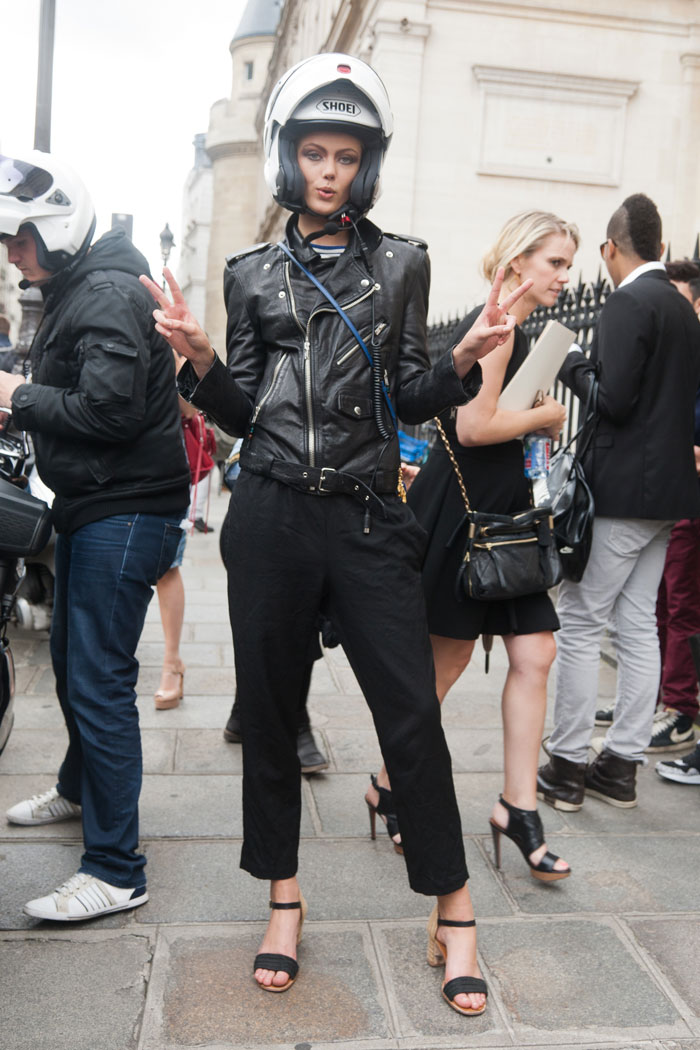 The Front Row View: Model Street Style: Frida Gustavsson is a Real Biker - thefrontrowview.com