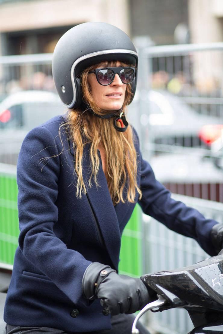 Caroline de Maigret street style helmet - pinterest.com