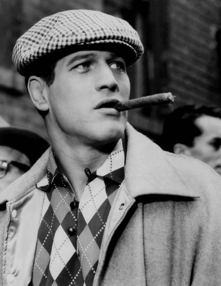 Paul Newman Black & white photo - newsboy cap cigar - eleonoreterzian.com