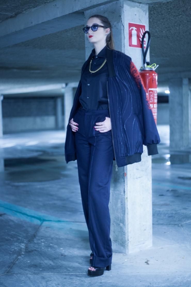 Neo Gangster © Collection by Thomas Renard - Photography Quentin Honoré - Abroad Studio - Model Eleonore Terzian - eleonoreterzian.com