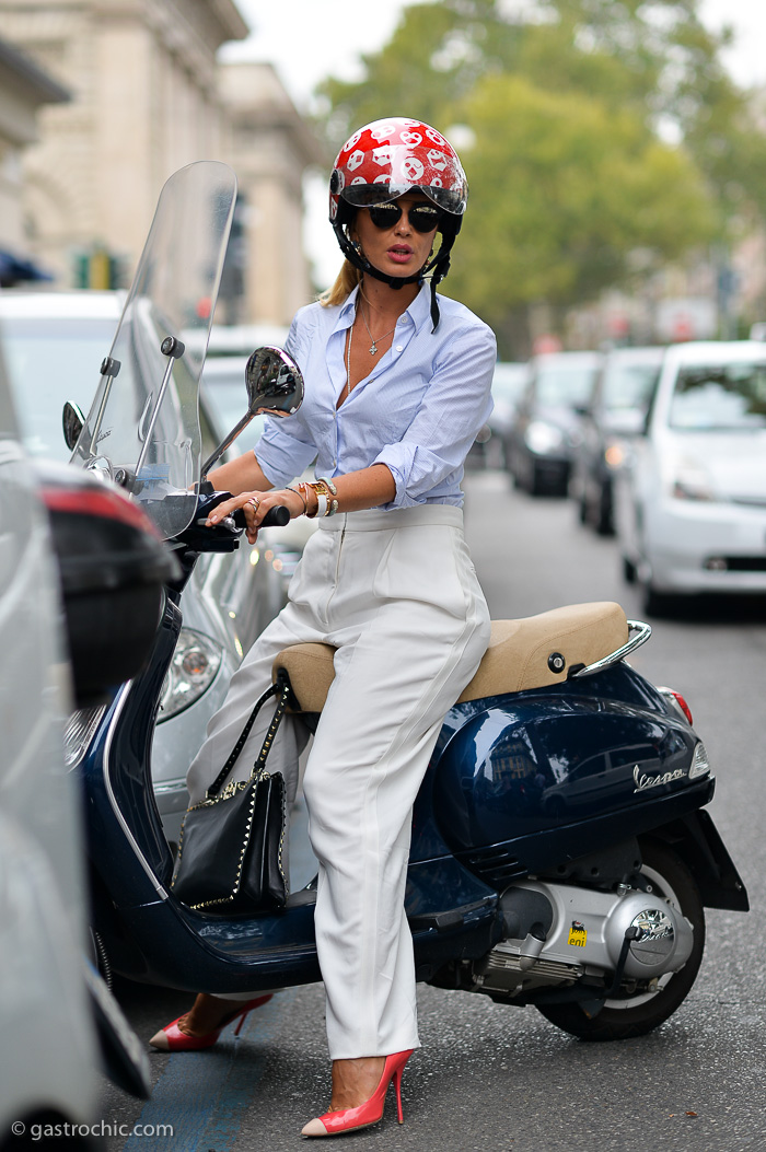 Woman on a Vespa, Milan - Pinned from Gastro Chic - gastrochic.com