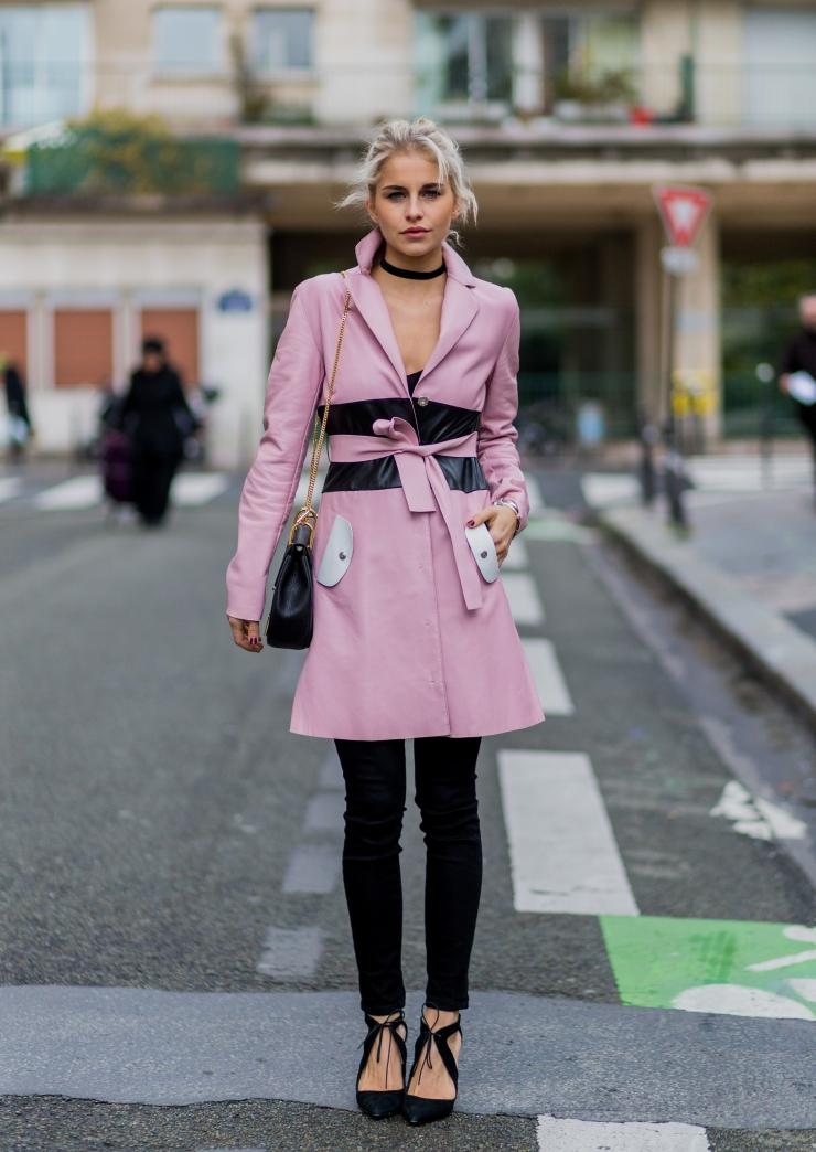 Caroline Daur during the Paris Fashion Week Womenswear Fall/Winter 2016/2017 in Paris - Photo by Christian Vierig/Getty Images - eleonoreterzian.com