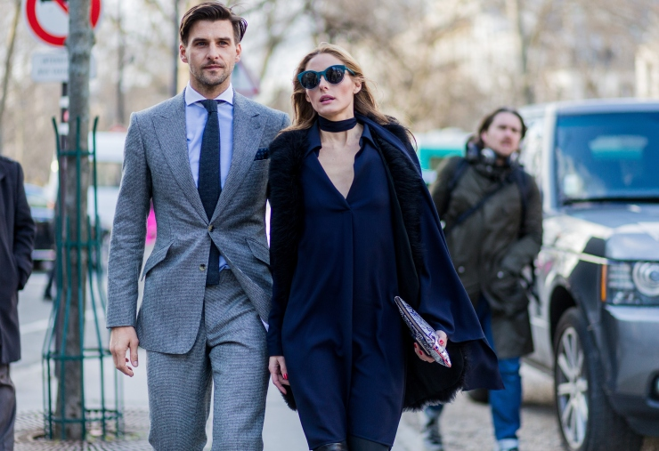 Choker necklace - Fashion Week Womenswear Fall/Winter 2016/2017 in Paris - Photo by Christian Vierig/Getty Images - Olivia Palermo & Johannes Huebl - eleonoreterzian.com