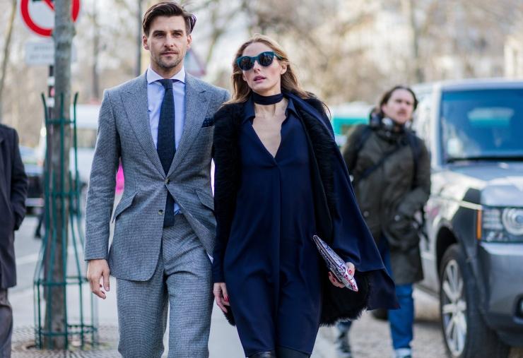 Choker necklace - Fashion Week Womenswear Fall/Winter 2016/2017 in Paris - Photo by Christian Vierig/Getty Images - Olivia Palermo & Johannes Huebl - eleonoreterzian.com
