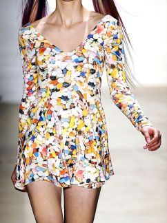 Jeremy Scott pills mini dress
