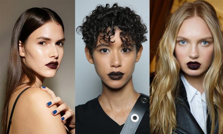 Deep purple lips - Eleonore Terzian Blog Collage - eleonoreterzian.com