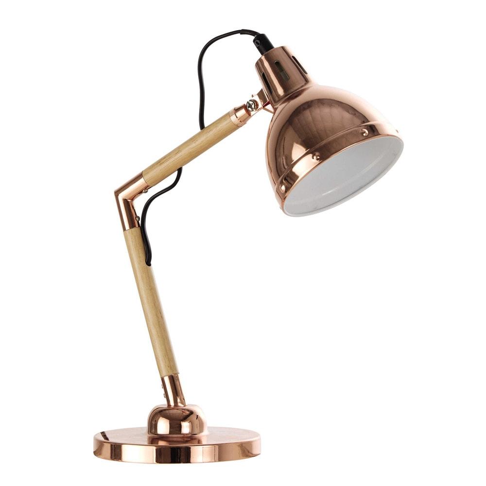 amazing lampe de bureau maison du monde lampe de bureau orientable en mtal cuivr h cm walter. Black Bedroom Furniture Sets. Home Design Ideas