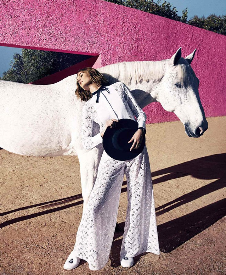 Nadja Bender by Camilla Akrans for Harper's Bazaar US - March 2015 - thefashionography.com