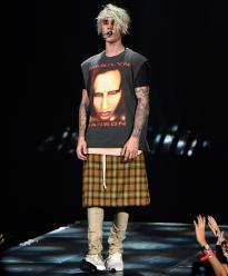 Justin Bieber - Marilyn Manson t shirt