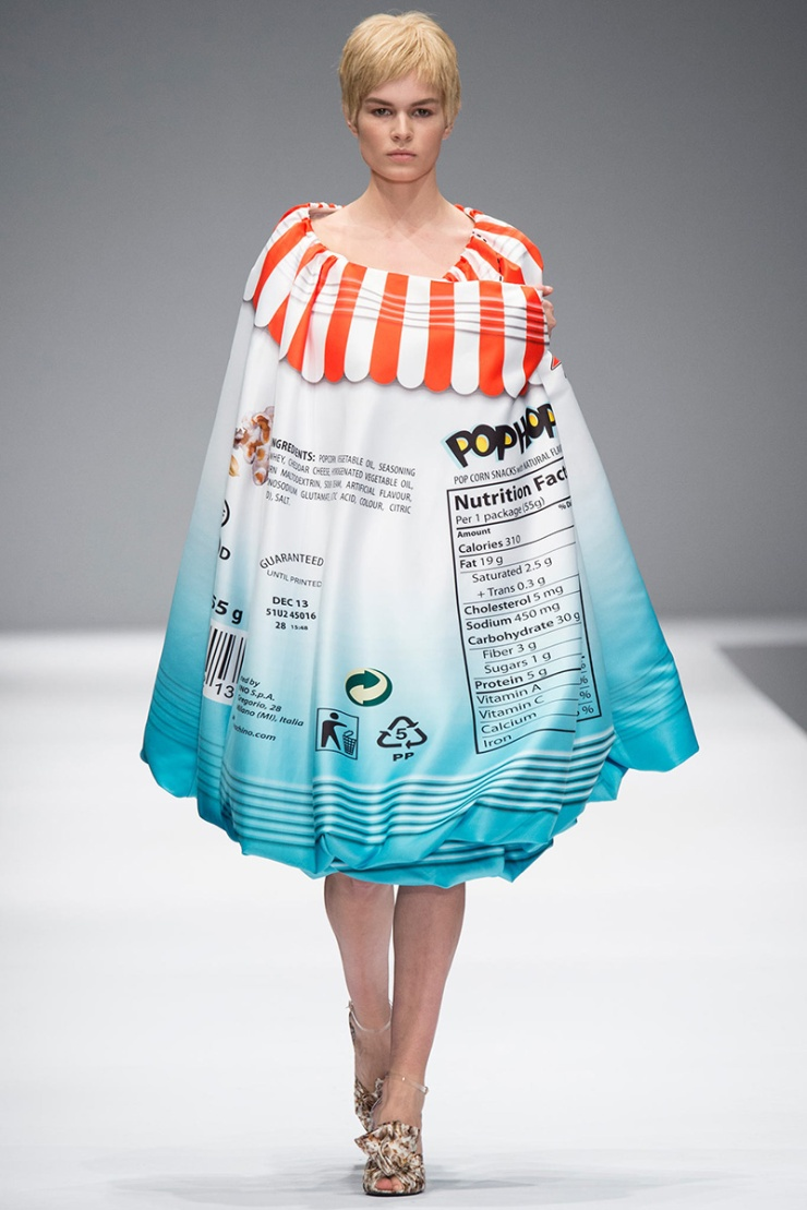 Moschino pop corn cape dress - FW 2014 by Jeremy Scott
