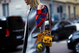 MFW FW 16-17- Street Style: Samantha Angelo wearing a Fendi bag - Shotbygio - shotbygio.com